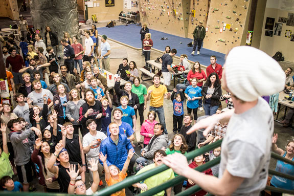 Rock Madness climbing competition at the Little Rock Climbing Center.