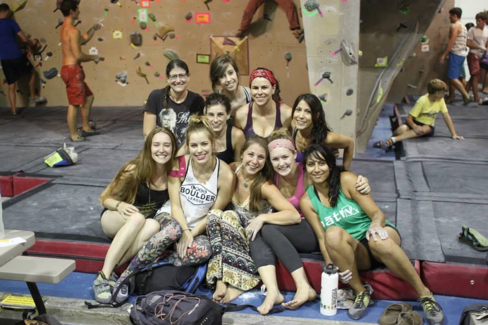 Boulder League team at the Little Rock Climbing Center.
