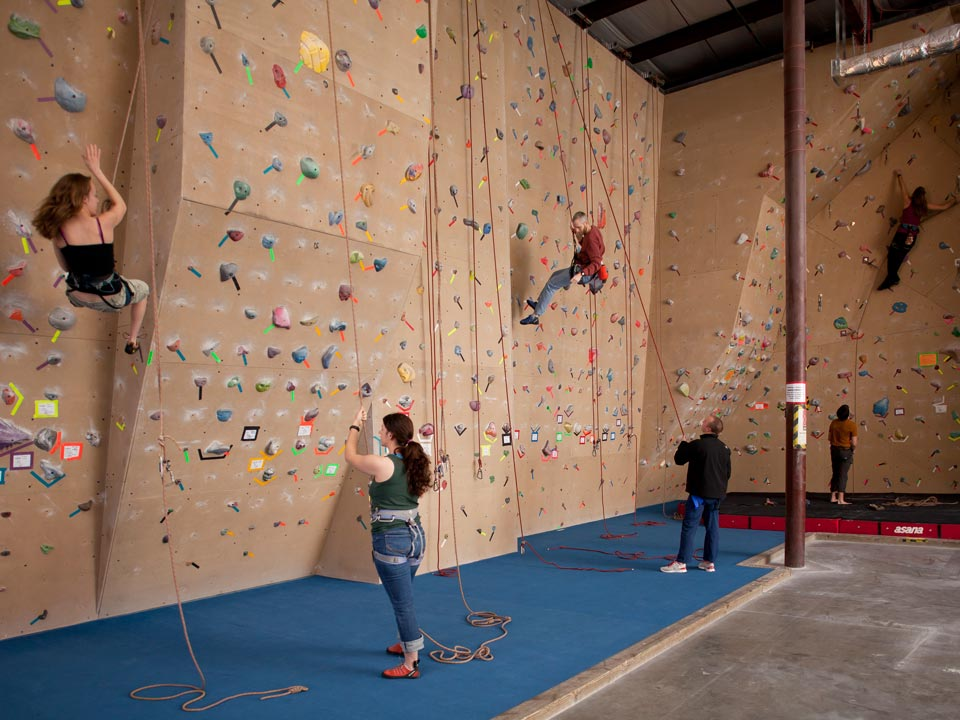 Learn how to rock climb at the Little Rock Climbing Center.
